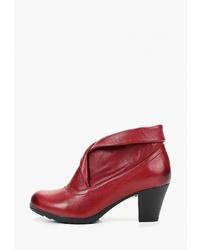 Темно-красные кожаные ботильоны от Alessio Nesca