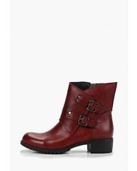 Темно-красные кожаные ботильоны от Brado