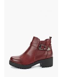 Темно-красные кожаные ботильоны от Fashion & Bella
