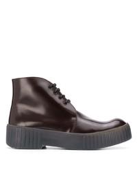 Темно-красные кожаные ботинки дезерты от Acne Studios