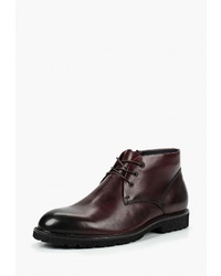 Темно-красные кожаные ботинки дезерты от Calipso