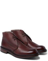 Темно-красные кожаные ботинки дезерты от Cheaney