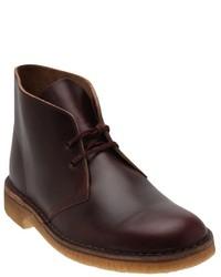 Темно-красные кожаные ботинки дезерты от Clarks