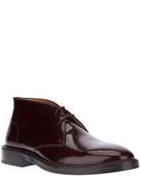 Темно-красные кожаные ботинки дезерты от Kenzo
