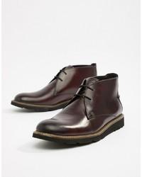 Темно-красные кожаные ботинки дезерты от Original Penguin