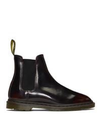 Мужские темно-красные кожаные ботинки челси от Dr. Martens