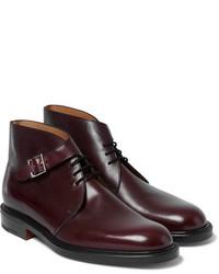Темно-красные кожаные классические ботинки