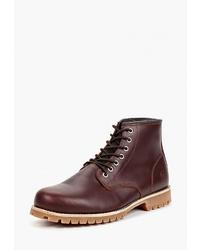 Мужские темно-красные кожаные повседневные ботинки от Affex