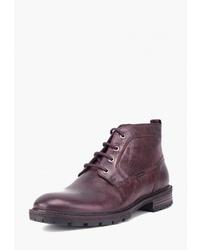 Мужские темно-красные кожаные повседневные ботинки от Airbox