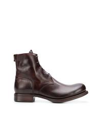 Мужские темно-красные кожаные повседневные ботинки от Carpe Diem