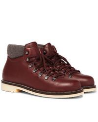 Мужские темно-красные кожаные повседневные ботинки от Loro Piana