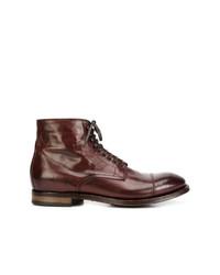 Мужские темно-красные кожаные повседневные ботинки от Officine Creative