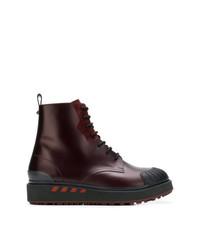 Мужские темно-красные кожаные повседневные ботинки от Valentino