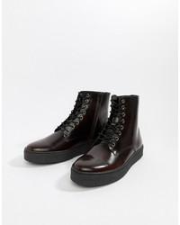 Мужские темно-красные кожаные повседневные ботинки от Zign