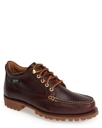 Темно-красные кожаные рабочие ботинки