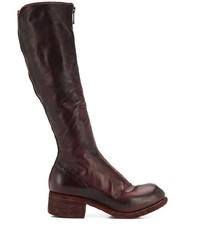 Темно-красные кожаные сапоги от Guidi