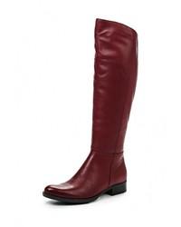 Женские темно-красные кожаные сапоги от Indiana