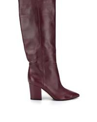 Темно-красные кожаные сапоги от Sergio Rossi