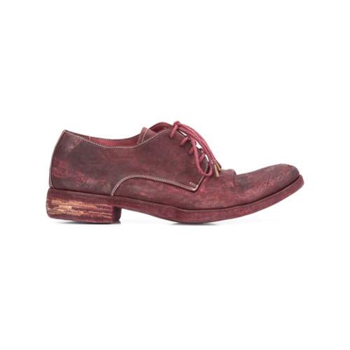 Темно-красные кожаные туфли дерби от A Diciannoveventitre