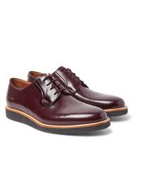 Темно-красные кожаные туфли дерби от Common Projects