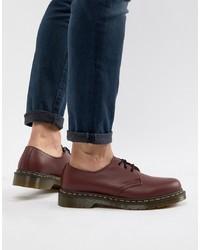Темно-красные кожаные туфли дерби от Dr. Martens
