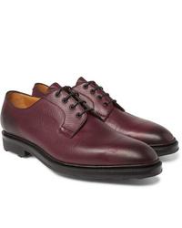 Темно-красные кожаные туфли дерби от Edward Green