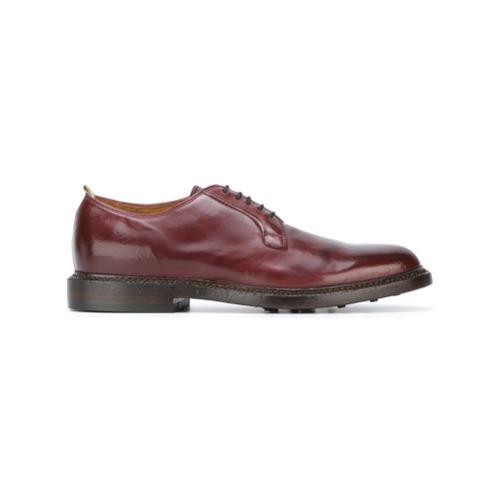Темно-красные кожаные туфли дерби от Officine Creative