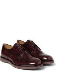 Темно-красные кожаные туфли дерби от Paul Smith