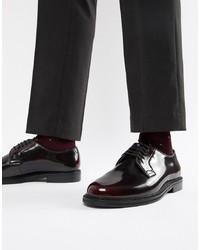 Темно-красные кожаные туфли дерби от WALK LONDON