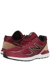 Темно-красные кроссовки