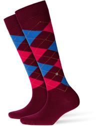 Темно-красные носки до колена