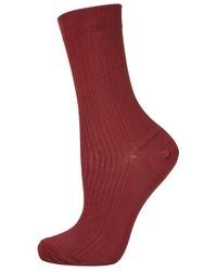 Темно-красные носки