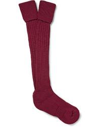 Мужские темно-красные носки