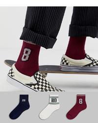 Мужские темно-красные носки от ASOS DESIGN