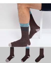 Мужские темно-красные носки от Asos
