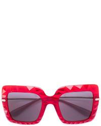 Женские темно-красные солнцезащитные очки