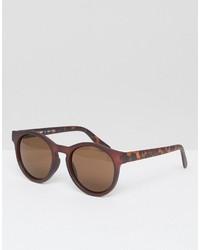 Мужские темно-красные солнцезащитные очки от A. J. Morgan