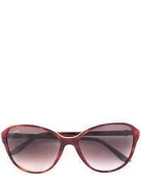 Женские темно-красные солнцезащитные очки от Cartier