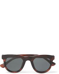 Мужские темно-красные солнцезащитные очки от Dries Van Noten