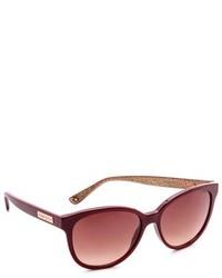 Женские темно-красные солнцезащитные очки от Jimmy Choo