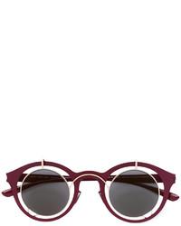 Женские темно-красные солнцезащитные очки от Mykita