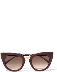 Женские темно-красные солнцезащитные очки от Thierry Lasry
