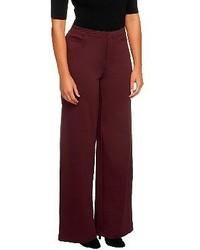 Темно-красные широкие брюки