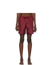 Темно-красные шорты для плавания от Gucci