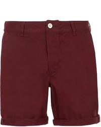 Темно-красные шорты