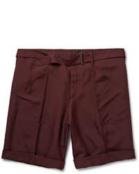 Мужские темно-красные шорты от Valentino