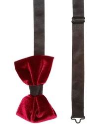 Женский темно-красный бархатный галстук-бабочка от Asos