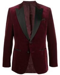 Мужской темно-красный бархатный пиджак от BOSS HUGO BOSS