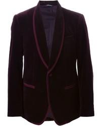 Мужской темно-красный бархатный пиджак от Dolce & Gabbana