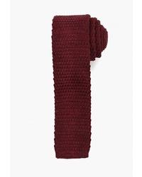 Мужской темно-красный вязаный галстук от Mango Man